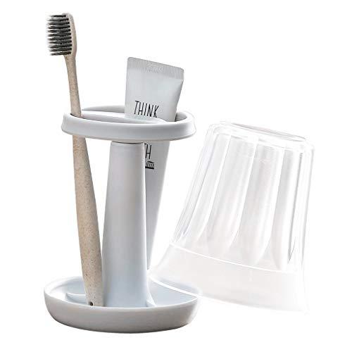 Jiji tandenborstelhouder tandenborstelhouder badkamerborstelhouder elektrische tandenborstel opzet- tandenborstelhouder standaard met afspoelen cup / afdekking tandenborstelstandaard