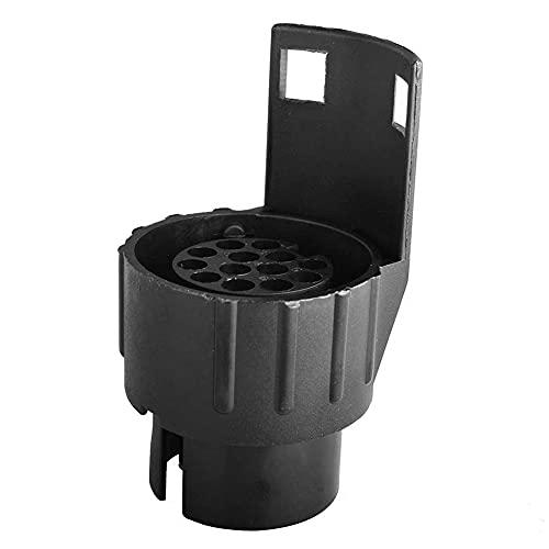 Adaptador de Remolque de 7 a 13 Pines Convertidor,12V Conversor 7 a 13 Pines Enchufe de remolque Adaptador eléctrico a prueba de agua para Tractor Camión RV Autos Conectores Remolque
