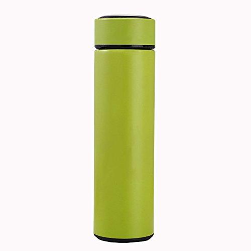 CAIYAH Taza deportiva de doble capa taza de acero inoxidable botella de agua potable reutilizable adecuada para niños y adultos deportes al aire libre y fitness Verde