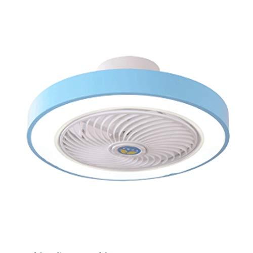 SPNEC Ronda Regulable Ventilador de Techo LED con luz de Control Remoto, luz de Techo con Ventilador, Sala de Estar lámpara del Techo, Comedor Dormitorio