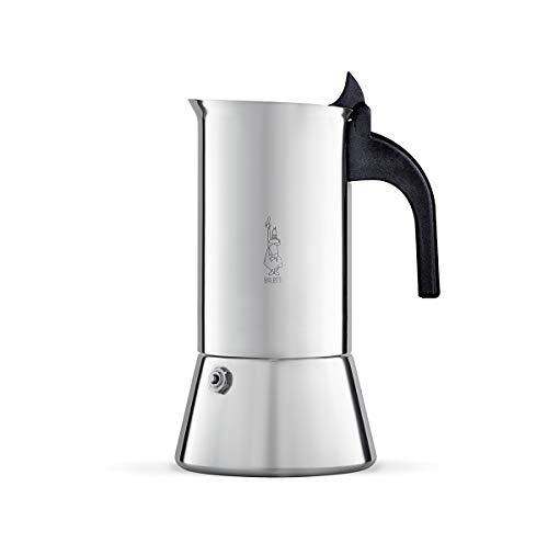 Bialetti Venus Espressokocher, Edelstahl, Silber, 10 Tassen (Sleeve Pack)