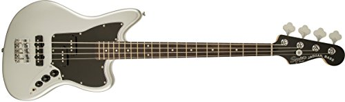 Squier by Fender Vintage Modified Jaguar Beginner Short Scale Electric Bass Guitar - Silver
