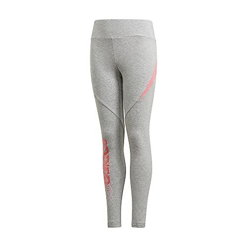adidas GM7025 G Bold Tight Leggings Bambina Medium Grey Heather/Hazy Rose 5-6A