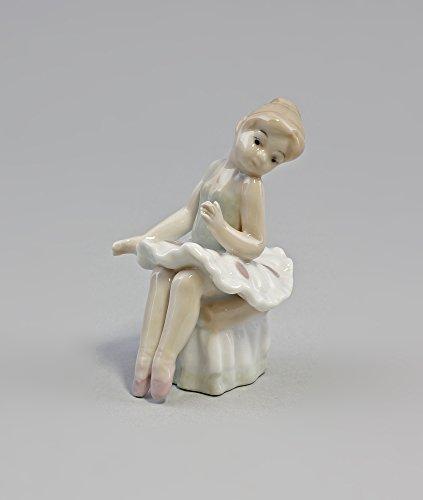 ohne Porzellan-Figur Kleine Ballerina grün