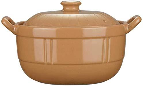 HYYDP Cacerolas Stew Pot Casserole Dish Casserole Platos con párpados - Casserole Hogar Hogar Resistente al Calor Llama de cerámica Cerámica Cerámica Gas Porridge Soup Soup Stef Pot (Size : 1.5L)