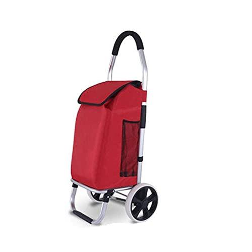 showyow Carro plegable de la compra de la carretilla de la aleación de aluminio del hogar del carrito de compras portátil con las ruedas plegable