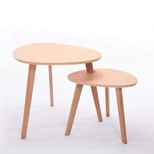 JIE eenvoudige moderne houten salontafel, sofatafel, ronde mini creatieve theetafel, computertafel, twee combinaties