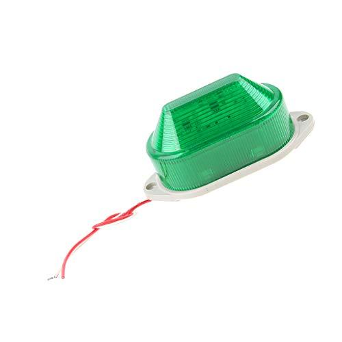 Almencla Ersatzindustriesignal Notfallalarm Warnleuchte Grüne LED Blitzleuchte AC 220V LTE 5051 Sicherheit Mit Schrauben