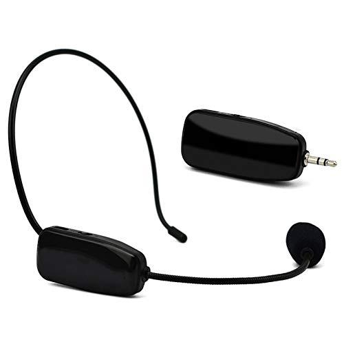 Lopbinte MicróFono InaláMbrico UHF Professional 2 en 1 Uso para la Cabeza Mic MicróFono Amplificador de Voz para la Ense?Anza del Habla