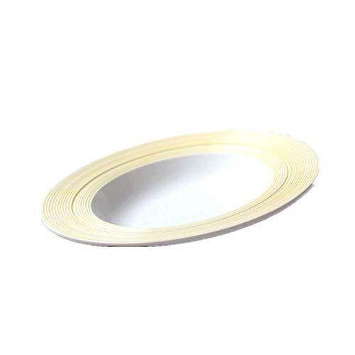 BXU-BG Plato occidental simple japonés y coreano de cerámica cepillada, plato grande para pasta de estilo occidental, plato de sopa amarillo de 25,4 cm
