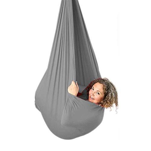 CWYP-MS Hamaca de Yoga aérea, Swing de Terapia Interior para niños Hamaca de Yoga elástica aérea con Necesidades Especiales La Elasticidad de integración sensorial Ideal para Autismo Aspergers