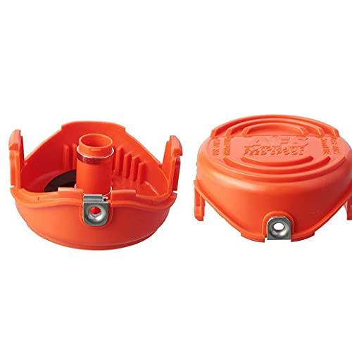 Obelunrp Trimmer Spools Cap de Tapas compatibles con el reemplazo de la cortadora de césped de Decker Black 2pcs Herramienta de Mano DIY