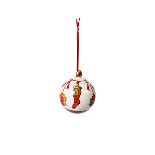 Villeroy & Boch Annual Christmas Edition Kugel 2019, dekorative Weihnachtskugel als Baumschmuck, Premium Porzellan, bunt