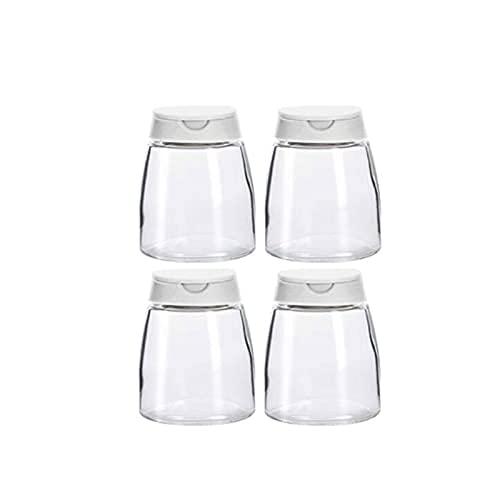 Kruidendoos kruiden opslagcontainer,met verzegeld deksel,glasstijl,maat:8,5 cm *6,5 cm,4 stuks Kruiden potten WSYGHP