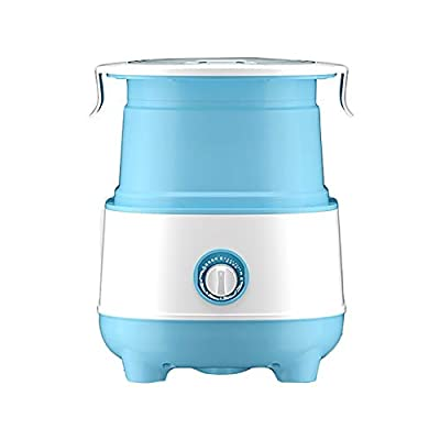 YzDnF Underwear Washing Machine Folding Washing Machine Small Portable Mini Semi-automatic Washing Underwear And Tights Laundry Prussian Blue Portable Clothes Washer And Dryer