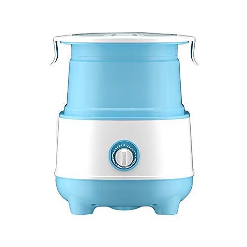 YLiansong-home Lavadora compacta Lavadora Plegable Mini Semi-Automático Lavado de Ropa Interior y Medias Lavandería Prusian Blue Lavandería de Secadora (Color : Blue, Size : 34x33x40cm)