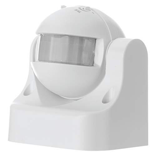 EMOS G1120 Infrarot-Bewegungsmelder IP44 für Außen, 12m Reichweite, 180 Grad Detenktionsbereich, weiß