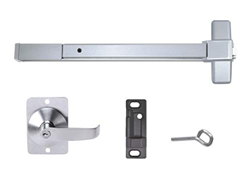 Push Bar Panic Exit Device, Grade 1 (UL listed) Aluminum, with Exterior Lever