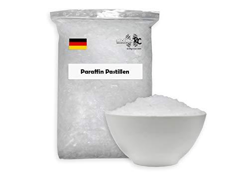 2,5kg = 2500g Paraffin Paraffinwachs Kerzenwachs rein weiß | vollraffiniertres Qualitätswachs | 54/56 | Paraffin-Wachs | für Kerzen, Basteln, Feuer | passt für DENK | BRD molinoRC®