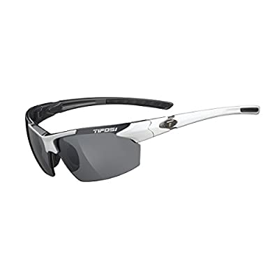 Tifosi Jet 0210405870 Wrap Sunglasses, White & Gunmetal, 65 mm