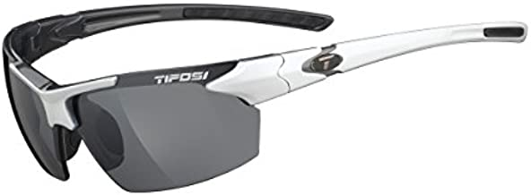 Tifosi Jet 0210405870 Wrap Sunglasses, White & Gunmetal, 65 mm
