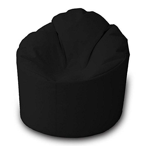 Pouf Beanbag Relax Polyester imperméable pour extérieur L 85 x 90 cm Noir