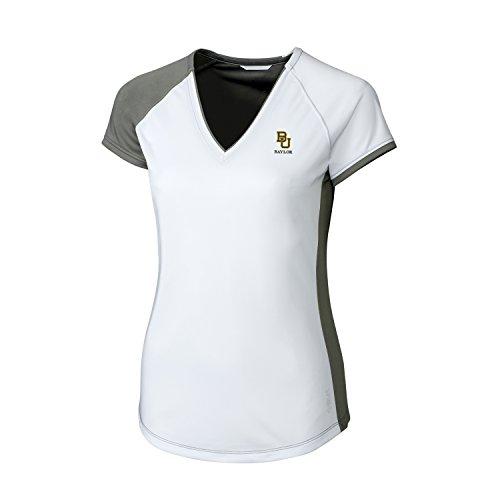 CBUK Camiseta de Manga Corta para Mujer, Cuello en V, Manga Corta, Mujer, LBK00013, Elemental Grey, X-Large