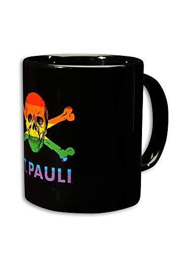 FC St. Pauli Tasse/Kaffeebecher ** Totenkopf Regenbogen **