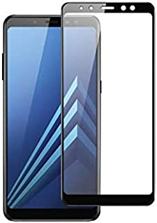 Tempered Glass screen Protector for samsung galaxy A8 2018 - Black