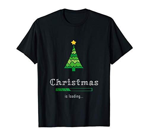 Christmas is loading - Albero di Natale Design - Natale Maglietta
