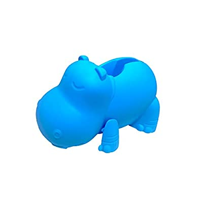 LESHP Bath Spout Cover-Silicone Tub Faucet Cover Bathtub Spout Cover for Baby Kids Toddlers Protection Accessories Baby Safety Universal Bath Silicone Toys/Hippo Blue