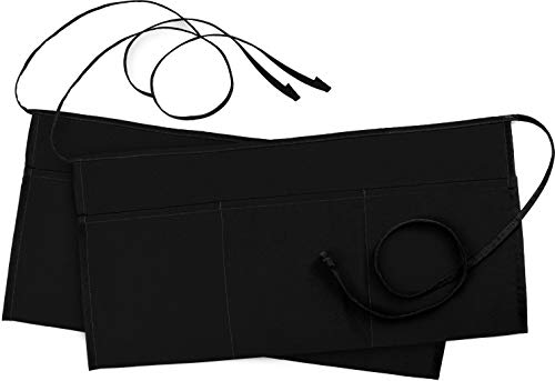 Utopia Wear 2 Pack 3 Pockets Waitress Apron, Waist Aprons for Home and Kitchen, 24 x 12 Inches, Black 5