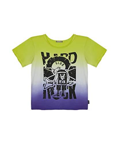 GULLIVER Camiseta de Manga Corta para Niño Multicolor con Estampa Cuello Redondo, Algodón, Casual T-Shirt para 3-8 Años