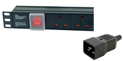 DYNAMODE PDU-12WS-V-UK-IEC20 12 Way Vertical UK 13A Switched PDU - (> Dynamode)