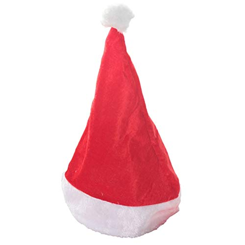 JSZMD Christmas Santa Hat, Plush Hat, Gift for Costume Party and Holiday Event 5 Pcs