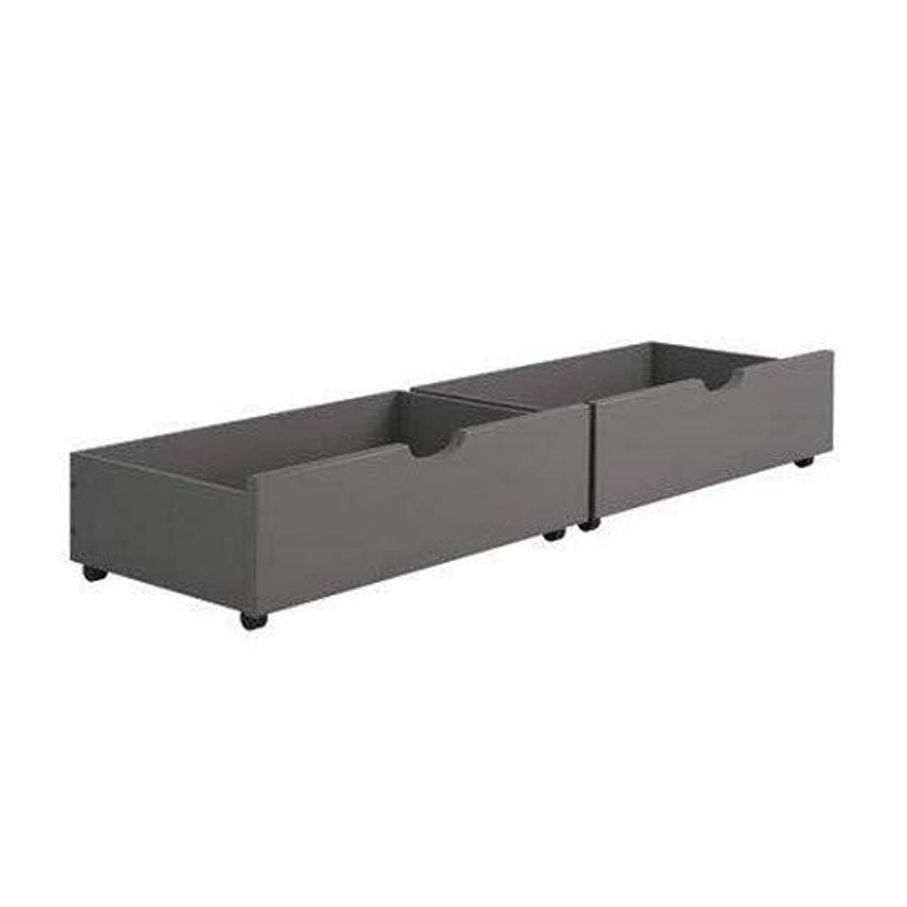 Donco Kids 505-DG Dual Under Bed Drawer, One Size, Dark Grey
