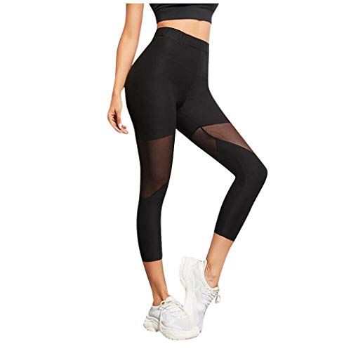 Shinehua yogabroek voor dames, workout, training, capri, leggings, mesh, yogabroek, panty's, sportbroek, fitness, tights, hoge taille, stretch, joggingbroek, sportbroek