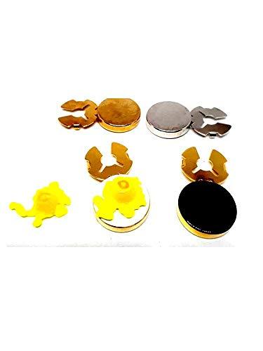 Artesanal 1 par de cubrebotones Art 2, 18 mm Granos y Paredes Murano baño Plata o Oro Cubre Botones Rojo Azul Verde Celeste Amarillo Naranja Negro Rosa Blanco ETC + 1 Llavero