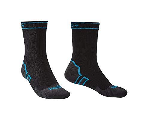 Bridgedale StormSock Midweight Boot Length Waterproof Merino Wool Sock, Black/Blue, M