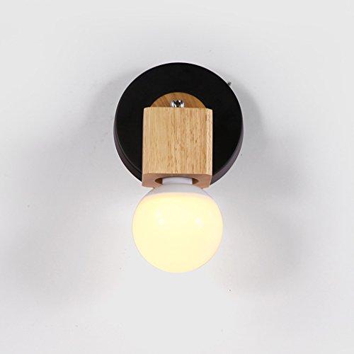 Lampe de chevet chambre simple créative en bois lampe de chevet