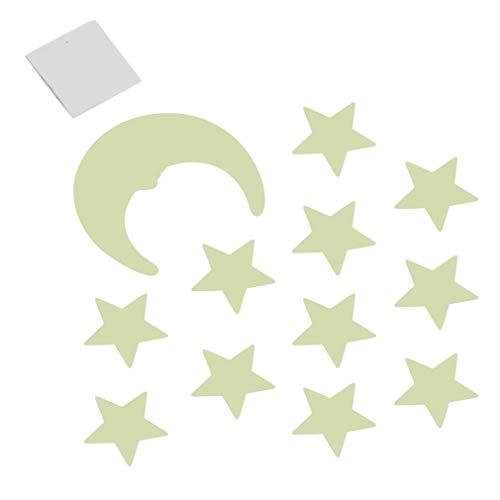 BLOUR Sterne Mond Aufkleberim Dunkeln leuchten DIY leuchtende Fluoreszierende Aufkleber dekorative Aufkleber für Kinderzimmer Wand lustige Aufkleber Spielzeug