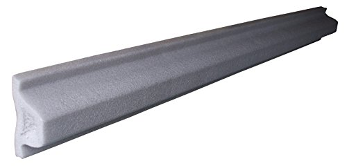 "Dock Edge + Boat Shield Extruded Polyethylene Foam Bumper, 48"" - Grey"