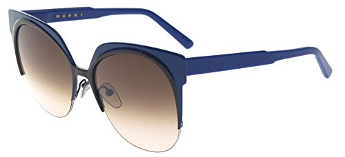 Marni Gafas de Sol CURVE ME101S Blue/Light Brown Shaded 56/17/140 mujer