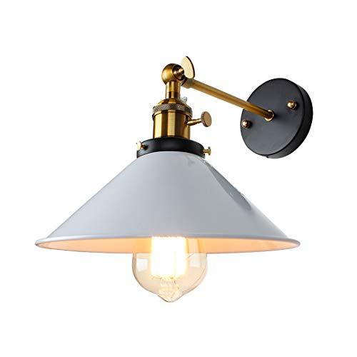Lámpara de pared de la vendimia Interior de iluminación Interruptor de pared Luz de pared Retro Negro Blanco Cubierta Blanco Lámparas de cama No7 No Bulb
