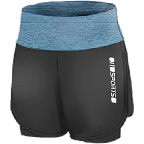 Corumly Pantalones Cortos Deportivos para Mujer Primavera Fitness Yoga Correr Deportes Pantalones Cortos elásticos de Ocio Pantalones Cortos Casuales para Correr al Aire Libre S