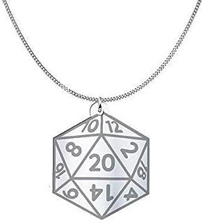 Collana D20 dado Dungeons & Dragons in Sterling Silver o placcato oro 18K, gioiello regalo amicizia, migliori amici, dunge...