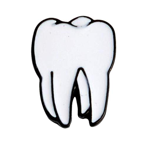 Broschennadeln, niedlicher Zahn, Gehirn, Augapfel, Herz, Emaille, Brosche, Anstecknadel, Jacke, Kragen, Tasche, Geschenk – Augen # Gr. Einheitsgröße, Zahn*