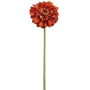 15″ Zinnia Silk Flower Stem -Brick (Pack of 12)