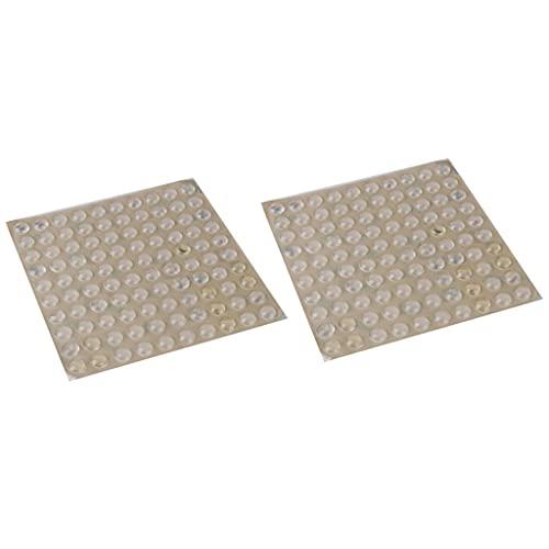 harayaa 2 Hojas de Silicona Adhesiva Pies Redondos Parachoques Puerta Mueble Gabinete Transparente