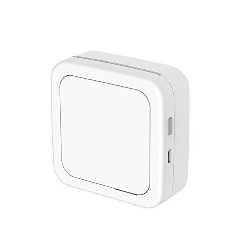 OurLeeme Mini Impresora fotográfica, Impresora inalámbrica de Fotos térmica en Blanco y Negro con Bluetooth para teléfono móvil Android iOS (Blanco)